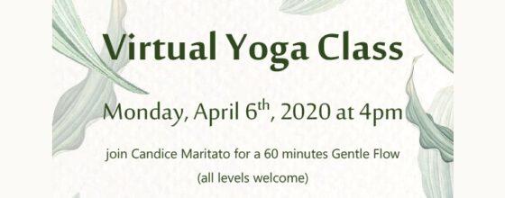 "04/06/20 ""Virtual Yoga Class"""