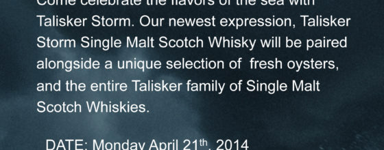"04/21/14 ""Talisker Storm Scotch Education"" at Angry Moon Platinum Lounge"