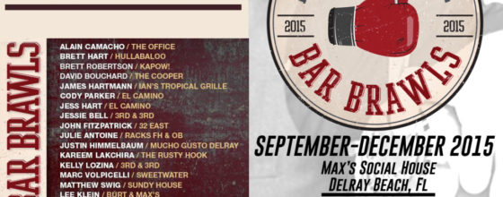 "September-Decemeber ""Bar Brawls"" at Max's Social House"