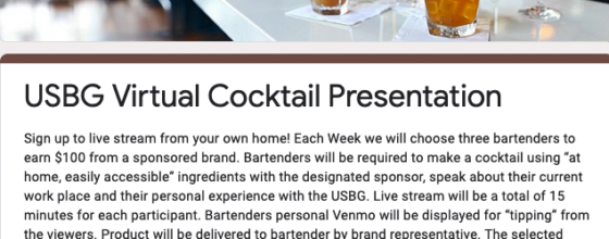 "03/31/20 ""USBG Palm Beach Virtual Cocktail Presentation"""